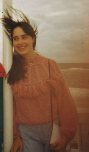 August 1992.  That water behind me is the North Sea off of the island of Sylt in very northernmost Germany.  I kind of like this picture, but holy moly! Check out the tassels on that sweater!  Those are awesome!