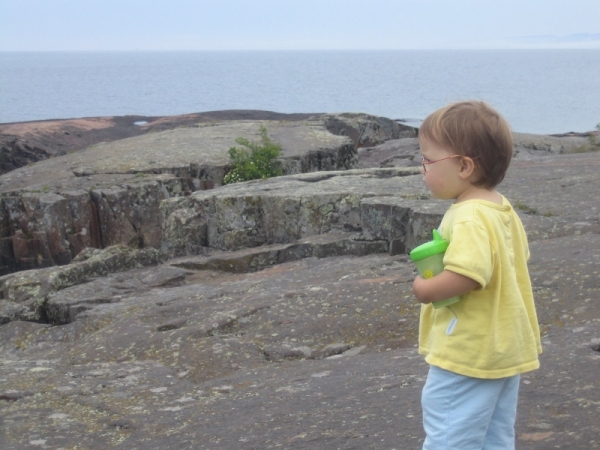 Zoe looking out over Lake Superior (click to get to the voting page)
