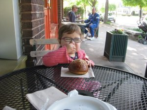 Friday mornings usually start with breakfast at the local bakery