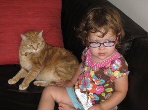 Zoe and my best friend's cat
