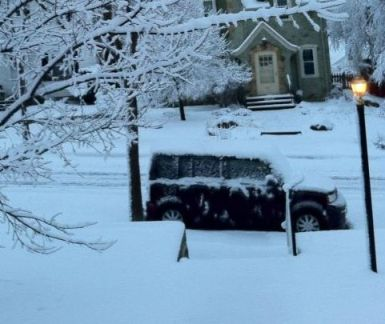 Apparently the only pictures I have of my car are ones I took this spring to show how snowy it was.