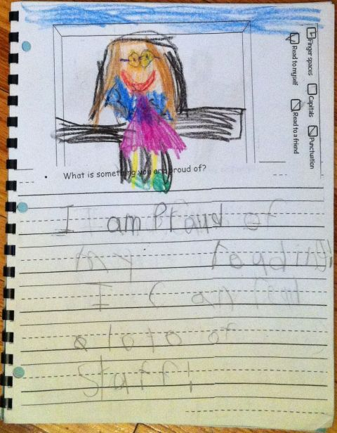 """""""I am proud of my reading!  I can read a lot of stuff!"""""""